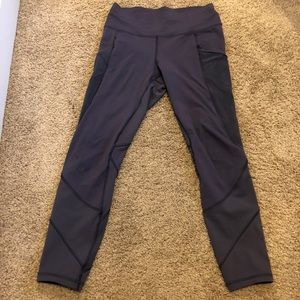 Lulu lemon highwaist grey/blue leggings w/ pockets
